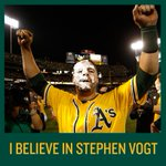 Heres the reveal, RT if you believe in Stephen Vogt. #GreenCollar http://t.co/RZnhCkRQwO