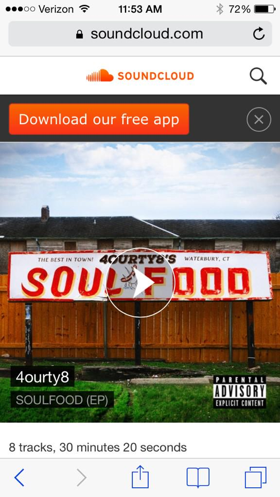 """Let me introduce you to this """"Soul Food"""" @4ourty8 @IAMTYFROMCT_DOE gotta hit right here ppl http://t.co/097JpCXHfx"""