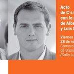 En una hora acto de @CiudadanosCs en Granada. Cámara Comercio de Granada, 19 horas. Os esperamos! @CsGranada. http://t.co/G3KWPrxt3l