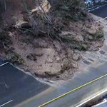 EXTENDED: Aerial view of unexpected mudslide blocking Highway 403 in Hamilton: http://t.co/D30rWdjqBL http://t.co/IrjzCaAroI