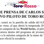 Ya es oficial @carlosainz piloto @ToroRossoSpy #f1 2015 http://t.co/NnD2ZfaMw7