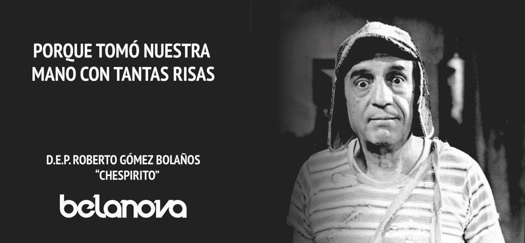 Descansa en paz, gran hombre. Gracias por todas las risas. #Chespirito #ChespiritoPorSiempre http://t.co/ajqt6VdONg