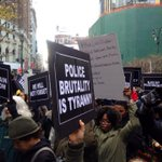 Hands up! Dont shop! #BlackOutBlackFriday protesters here in #NYC making noise for #MikeBrown! #Ferguson #ACAB http://t.co/zIcQEkTo23