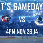 Reminder: Its an early start today! Tune in to #Canucks vs #Lumbus at 4PM. Tale of the Tape → http://t.co/qucATSR3Tu http://t.co/ovdn4LNlZv