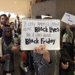 """If only America...RT @JamesQueallyLAT: Protest summed up in one sign at Galleria Mall #NotOneDime #BlackFriday http://t.co/qXH0zK1rXG"""""""""""