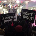 BREAKING: A group of protesters just entered Macys in NYC, the largest store in the world. #BoycottBlackFriday http://t.co/FtZfGrzy5X