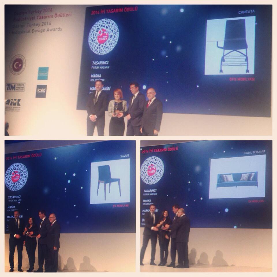 Faruk Malhan imzalı Babil Serdiyar, Savur ve Cantata #DesignTurkey2014 Endüstriyel Tasarım Ödülü'ne layık görüldü. http://t.co/JUd98WgIST
