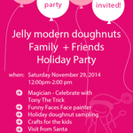 We just have #doughnuts EVERYWHERE! Join us Saturday, 12-2 at our #yyc store for our holiday party! #calgary http://t.co/xttjDcpHIW