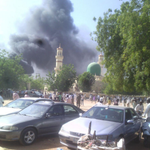 Update: Gun men opened fire at fleeing Worshippers after the multiple explosion in Kano http://t.co/e1u1LivIUY