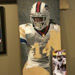 This #BlackFriday #painting of @sammywatkins is  So Much Fun  Its gonna be someones #mancave centerpiece. Whos? http://t.co/psXqdqNML8