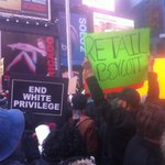 Protest had moved to times sq #nyc #BlackoutBlackFriday @MillionHoodies http://t.co/TeJ65hjZ70