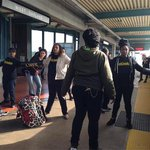 As part of #BlackoutBlackFriday protesters have shut down all BART service at West Oakland. http://t.co/N3jWa63yZa http://t.co/Ln8sKxZ42P