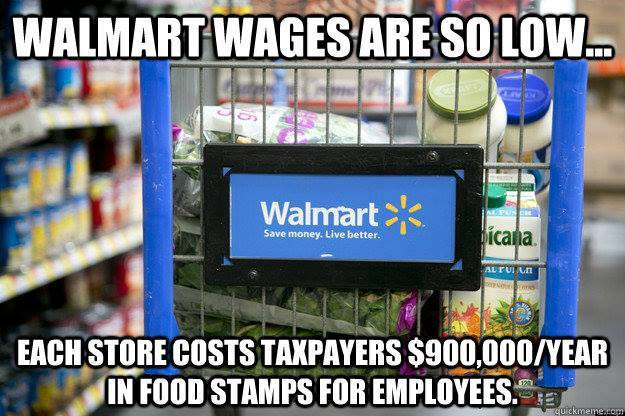 UNACCEPTABLE. Taxpayers shouldn't have to shell out big bucks because Walmart won't pay living wages #WalmartStrikers http://t.co/9Z6z2jpISY