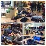 """Thats huge RT @UrbanCusp BREAKING #Ferguson Galleria forced to close doors after protestors stage a """"die in"""" protest http://t.co/AKIXve0ato"""