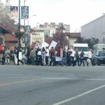 Spotted by @BlackBear_MSU: Protesters on the Plaza in KC. And KCPD. #Ferguson http://t.co/akBs5dg6d2