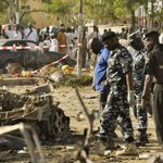 """""""@standardnews: 120 people killed and 270 wounded in bomb blast at mosque in Nigeria http://t.co/R5K4yImHIb http://t.co/i8tNzoYyEZ""""Good God"""