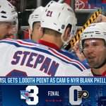 #NYR win!!!! 1,000th point for @mstlouis_26 and another shutout for @ctalbot33! #GoalBuster http://t.co/LQkbcwixAD