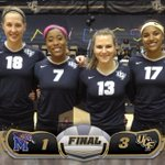 FINAL: #UCF defeats Memphis 3-1 (25-17, 25-19, 23-25, 25-16) on Senior Day! #ChargeOn http://t.co/QsbxgQyQOy