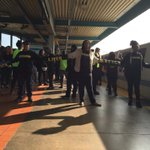 #BlackLivesMatter in Oakland, they have shut down the BART. Sisters on the front lines holding it down. http://t.co/CicthBrlJN