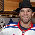 Here is @mstlouis_26 with the puck from his 1,000th point while wearing the #NYR Broadway Hat! http://t.co/bVFkg0qfS2 http://t.co/FzPEMakTbc