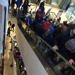 """Protesters have TAKEN OVER 3 floors of Westlake shopping center in #Seattle, chanting """"Black lives matter."""" http://t.co/rsrXAeNBFr"""