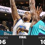 FINAL: Warriors 106 - Hornets 101 http://t.co/wtQHrfT6qN