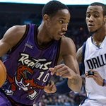 DeRozan forced out of Raptors game after suffering left groin strain http://t.co/2arRkX6btE http://t.co/7VtFqRzHAe