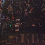#BREAKING: Standoff between police and protesters at Geary and Powell in SF. Police requested two arrest wagons. http://t.co/eUapZSINY1