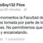 .@YoSoy132FFyL ha tomado la FFyL de la #UNAM tras detención de #SandinoBucio #YaMeCanse http://t.co/jJqoZ4zUsW