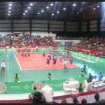 #Voleibol varonil #México vs #Venezuela calentando previo al partido #Veracruz2014 #CentroamericanosTVMÁS http://t.co/8mXnij1ez3