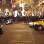 Police broke us up at 5th and Market. #BlackFridayBlackout #SF #MikeBrown #BlackLivesMatter #Ferguson http://t.co/zJ09AsRdeN
