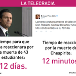 Cuando creíamos que no podía hacer algo peor, @EPN lamenta muerte de Chespirito. #YaMeCansé Florinda Meza D.E.P Chavo http://t.co/oxRXDMxvFF