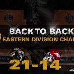 FINAL: No. 17 #Mizzou 21, Arkansas 14.  BACK-TO-BACK CHAMPS!  Were headed to Atlanta again! #MIZ http://t.co/uQ2DH1S2ko