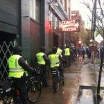 Cops near 10th & E, Pike ready for action. 200 Ferguson demonstrators. http://t.co/PpmvjeFz9n