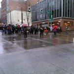 March pauses at pike & boren, police line ready half block ahead #Seattle #ferguson http://t.co/tq8GPCDmpA