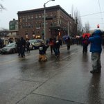 It looks as if @SeattlePD is going to try to stop protesters from marching back downtown. http://t.co/dQ2BCJiA1G
