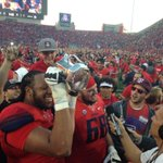 The #TerritorialCup is back where it belongs...and we are Pac-12 South champs. #BearDown http://t.co/lj5zRtYC8c