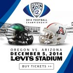 The #Pac12FCG is set. @WinTheDay faces @ArizonaFBall next Friday. #ComeToPlay GET TIX: http://t.co/YHZwyaZgZa http://t.co/jxFCZKWsnL