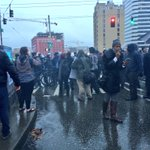 .@SeattlePD disperse pepper spray, percussion grenades on protesters trying to push past barricade. http://t.co/u0ZYdVXpD3