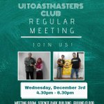 @BEMFIBUI @uitoastmaster Regular Meeting Wednesday, December 3, 4.30-6.30 pm, Ground Fl., Science Park Bldg UI Depok http://t.co/SpM8gy0m92