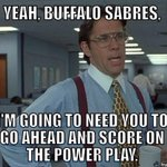 """""""@BuffaloSabres: Emelin sits for a slash, #Sabres to the PP! #NewWavePP #MTLvsBUF"""" http://t.co/TxBQiUMp3d"""