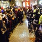 Standoff with police 5th & Pine #ferguson http://t.co/9qOlzG4rO3