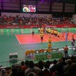 #Voleibol de sala varonil, por iniciar el encuentro CUB vs COL en cuartos de final #CentroamericanosTVMÁS http://t.co/vSdMA7Io5b
