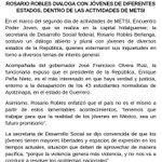 #Comunicado @Rosario_Robles_ dialoga con jóvenes de diferentes Estados en #MetsiPoderJoven  Presente @Paco_Olvera http://t.co/1Ii6HJ0HhI