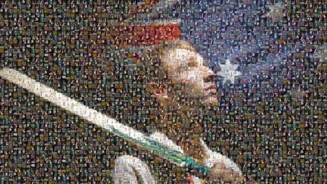 This is beautiful - a mosaic tribute to Phil Hughes made up of #putoutyourbats images http://t.co/yJWU12MAiH