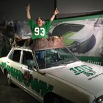 I stole Gainer The Gophers car!!! #riderville #ridernation @GreyCupFestival http://t.co/mhbETO0sSC