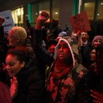 Seattle #Ferguson protest now over. Westlake Mall closed on #BlackFriday Earlier pic during fireworks: http://t.co/N6uiM84Kvx