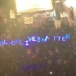 Protestors at Union Square in San Francisco. Keeping it chill before tree lighting. http://t.co/kHq1tpSrig