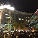 Westlake Center tree-lightening ceremony lasted only 8 of the 45 planned. For #Ferguson protest in #Seattle http://t.co/GQBa6mE0bz