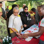 First Lady Margaret Kenyatta tours exhibition stands at Treasury Square in Mombasa County #BeyondZero http://t.co/HqClAXsUfd